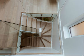 Rear stairwell in garden